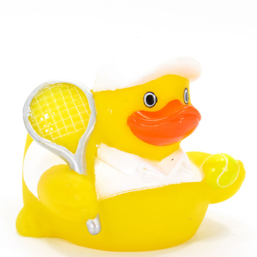 Tennis Player Rubber Duck by Ad Line | Ducks in the Window®