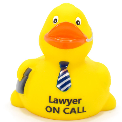 Lawyer On Call Rubber Duck by Ducks in the Window®