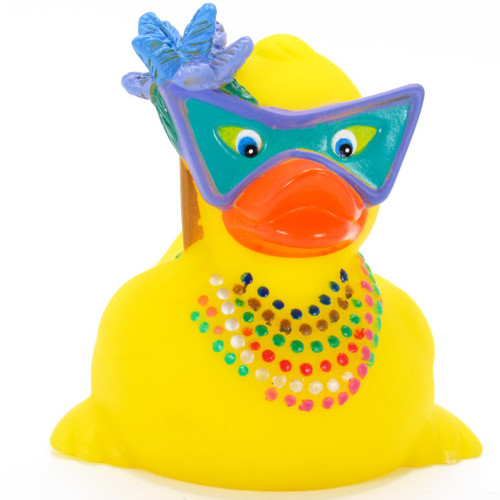 "Mardi Gras ""Fat Tuesday"" Rubber Duck by Ad Line 