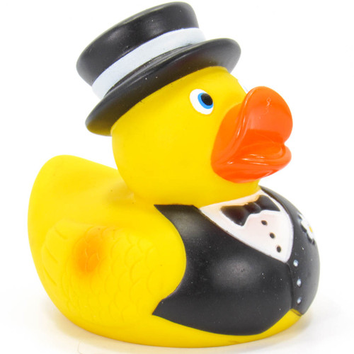 Groom Rubber Duck Bath Toy by Ad Line | Ducks in the Window®