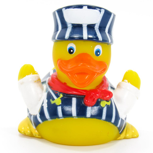 The Train Conductor Rubber by Ad Line  Ducks int the Window®