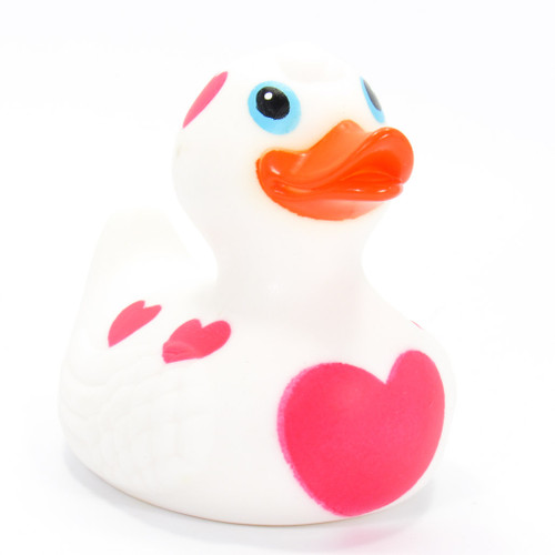 Red Hearts White Rubber Duck by Ad Line | Ducks in the Window®