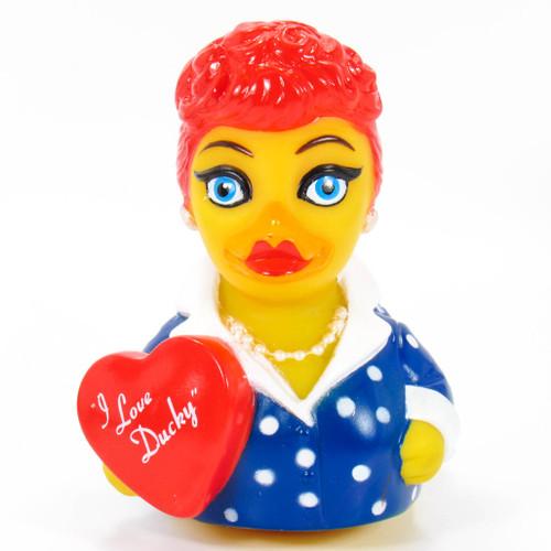 I Love Ducky Rubber Duck (Lucy) by Celebriducks | Ducks in the Window