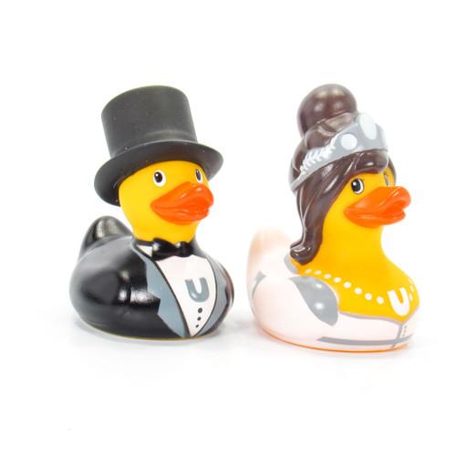 Bride & Groom Duck Mini Set Rubber Duck Bath Toy by Bud Duck | Ducks in the Window®