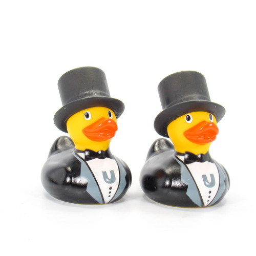 Groom & Groom Duck Mini Set Rubber Duck Bath Toy by Bud Duck | Ducks in the Window®