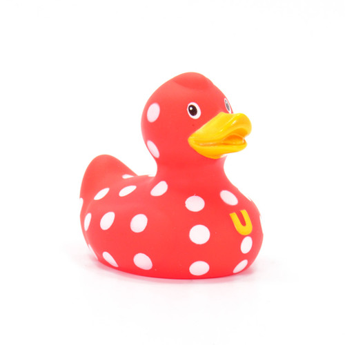 Polka Dot Mini Rubber Duck Bath Toy by BudDuck Collectables | Ducks in the Window®