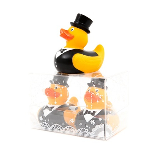 Wedding Couple Rubber Duck Groom & Groom (LBGT) attached  |Ducks in the Window