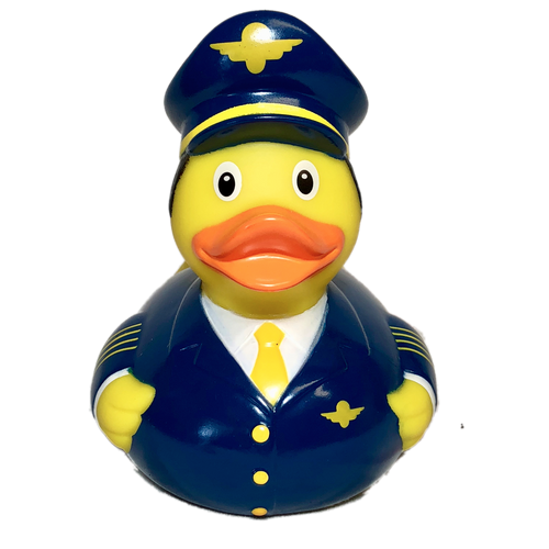 Airplane Pilot Rubber Duck by LiLaLu | Ducks in the Window