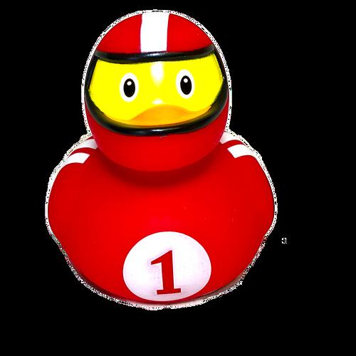 Race Driver Rubber Duck by LiLaLu | Ducks in the Window
