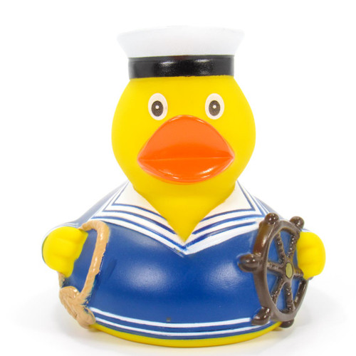Sailor Blue Rubber Duck by Schnabels | Ducks in the Window®