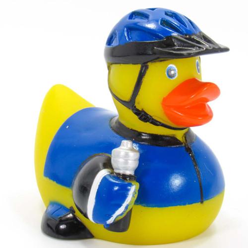 Biker Cyclist (male) Rubber Duck by Ad Line | Ducks in the Window®