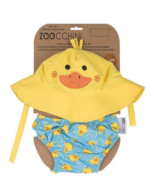 Swim Diaper & Hat Set Duck by Zoocchini | Ducks in the Window®