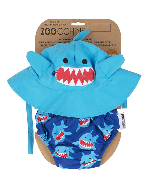 Swim Diaper & Hat Set Shark by Zoocchini | Ducks in the Window®