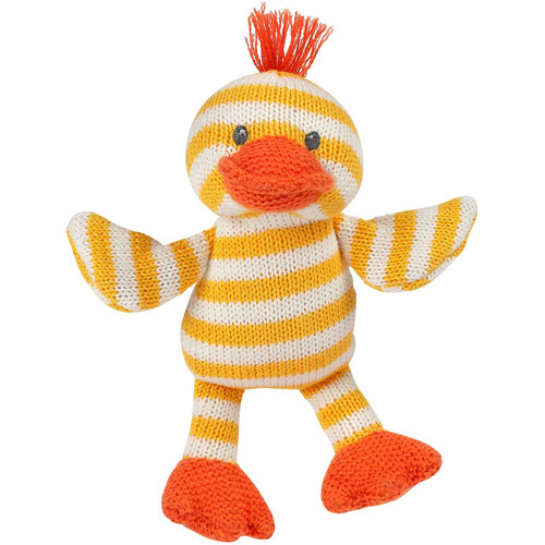 Quackers the Duck Knit Rattle by Maison Chic   Ducks in the Window®