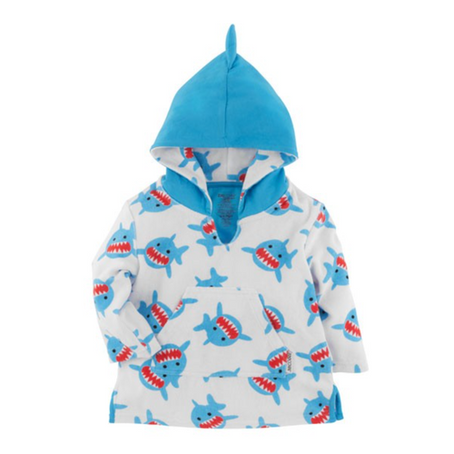 Shark Terry Cloth  Baby Coverup by Zoocchini | Ducks in the Window®