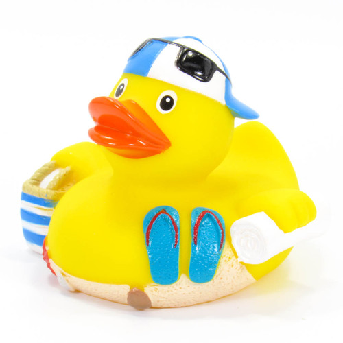 Beach Time Rubber Duck by Schnabels | Ducks in the Window®