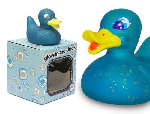 LED Glow (Blue) Rubber Duck by Locomocean | Ducks in the Window®