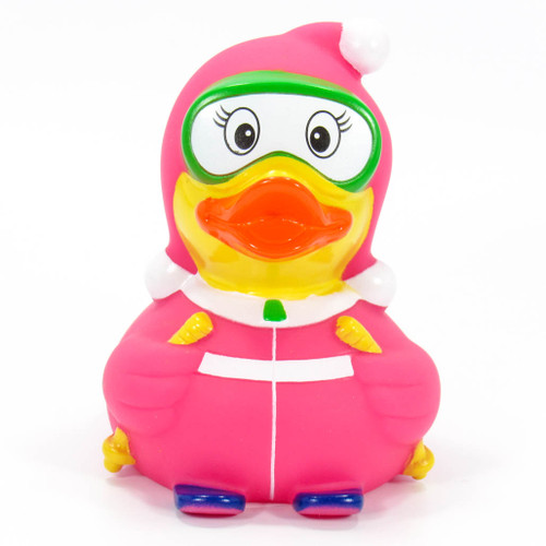 Skier Girl Rubber Duck by Schnabels | Ducks in the Window®