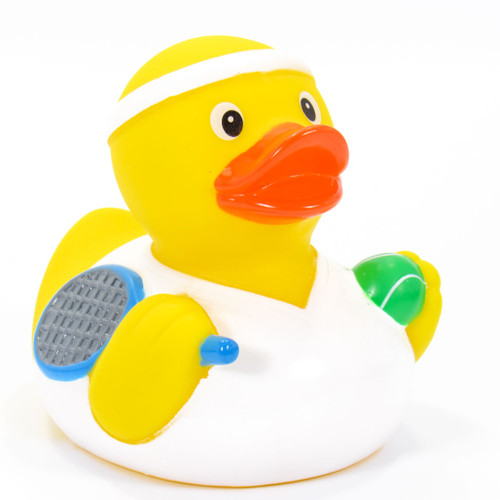 Tennis Player Rubber Duck by Schnabels | Ducks in the Window®