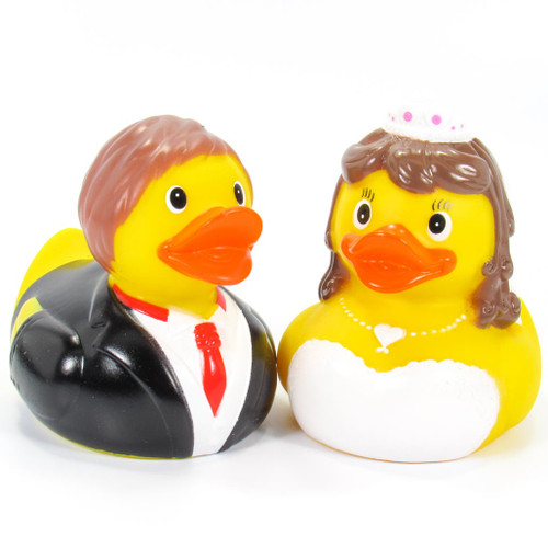 Wedding Bride & Groom Wedding Couple Set by Schnabels | Ducks in the Window®