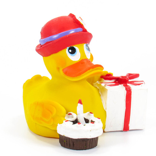 Birthday Rubber Duck by Lanco 100% Natural Toy & Organic | Ducks in the Window®