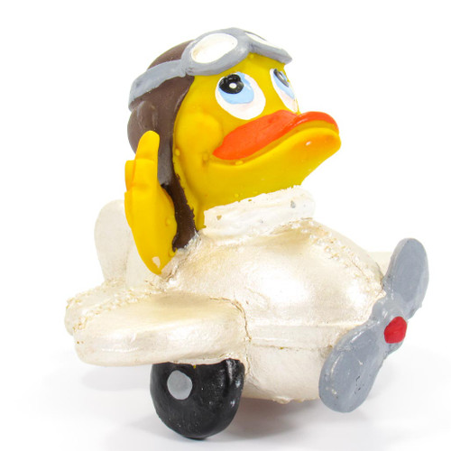Airplane Rubber Duck by Lanco 100% Natural Toy & Organic | Ducks in the Window®