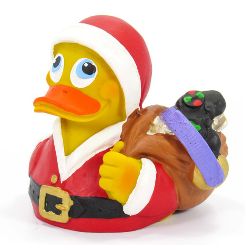 Christmas Santa Gifts Rubber Duck by Lanco 100% Natural Toy & Organic | Ducks in the Window®