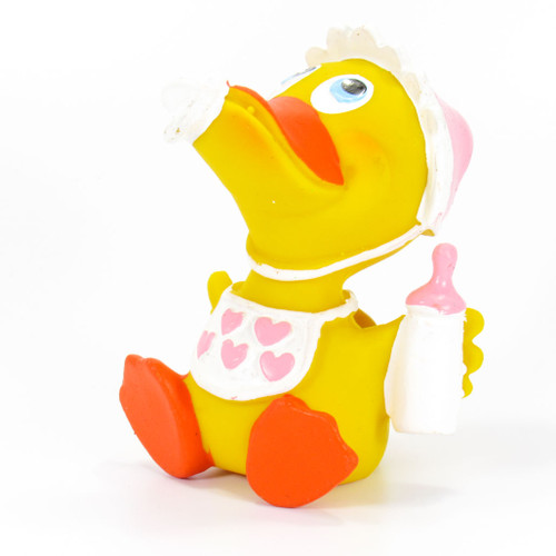 Baby Girl Rubber Duck by Lanco 100% Natural Toy & Organic | Ducks in the Window®