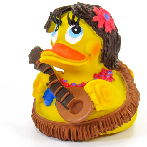 Hawaii Hula Girl Rubber Duck by Lanco 100% Natural Toy & Organic | Ducks in the Window®