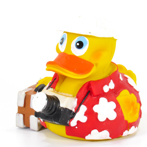 Tourist Traveler Rubber Duck by Lanco 100% Natural Toy & Organic | Ducks in the Window®
