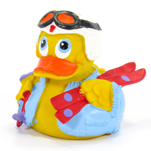 Ski Rubber Duck by Lanco 100% Natural Toy & Organic | Ducks in the Window®