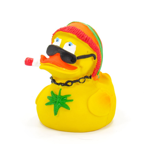 Jamaican Rasta Rubber Duck by Lanco 100% Natural Toy & Organic | Ducks in the Window®