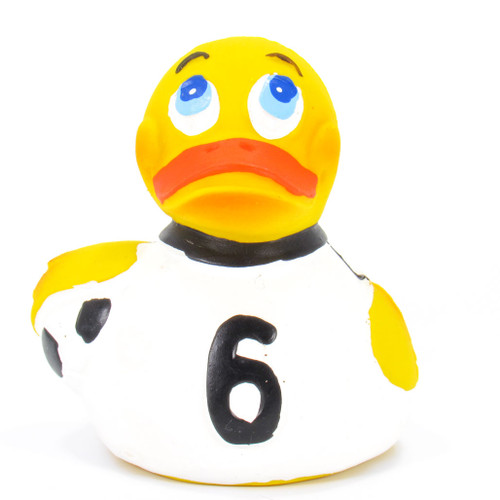 Soccer (Football) Rubber Duck by Lanco 100% Natural Toy & Organic | Ducks in the Window®