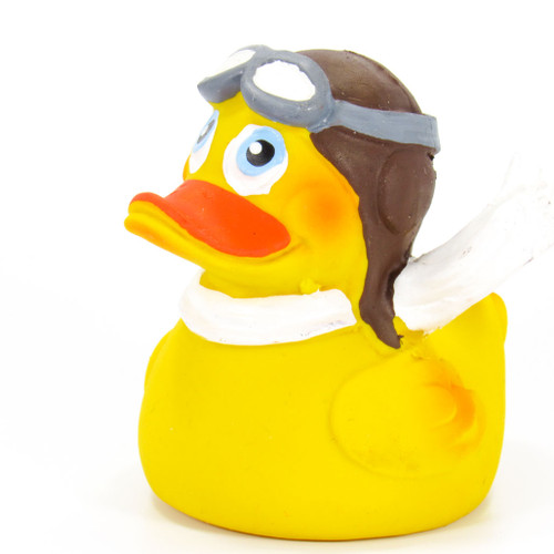 Pilot Flyer Rubber Duck by Lanco 100% Natural Toy & Organic | Ducks in the Window®
