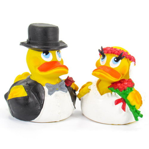 Bride & Groom Wedding Set Rubber Duck by Lanco 100% Natural Toy & Organic | Ducks in the Window®