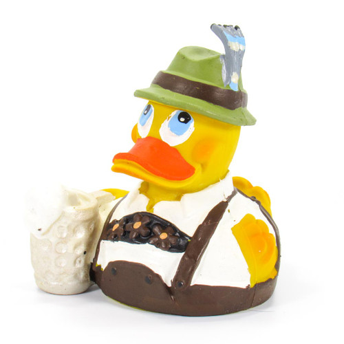 Bavarian Beer Male Octoberfest Rubber Duck by Lanco 100% Natural Toy & Organic | Ducks in the Window®