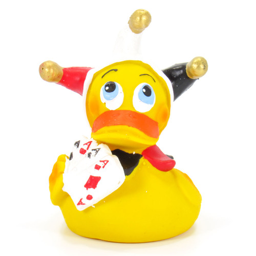 Poker Cards Player Gambler Rubber Duck by Lanco 100% Natural Toy & Organic | Ducks in the Window®