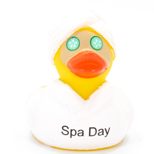 Spa Day Rubber Duck by Ducks in the Window®