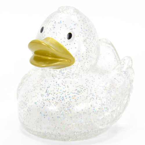 Gold Glitter Rubber Duck by Schnabels  | Ducks in the Window®