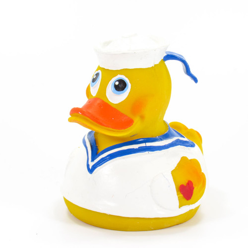 Sailor Crew Capitan Rubber Duck by Lanco 100% Natural Toy & Organic | Ducks in the Window®