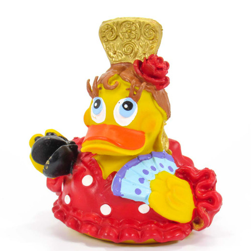 Spanish Dancer Castanets  Rubber Duck by Lanco 100% Natural Toy & Organic | Ducks in the Window®