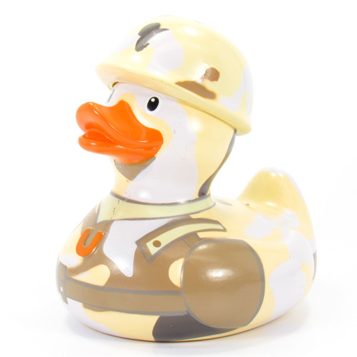 GI (Army) Rubber Duck Bath Toy by Bud Ducks | Ducks in the Window®
