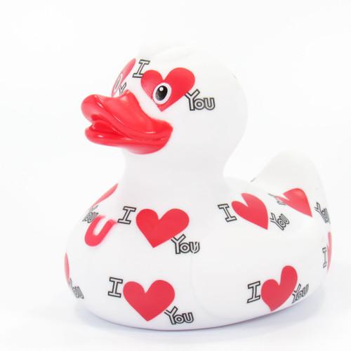 I Love You Rubber Duck Bath Toy by Bud Ducks | Ducks in the Window®