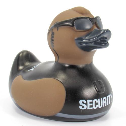 Security (Body Guard) Rubber Duck Bath Toy by Bud Ducks | Ducks in the Window®