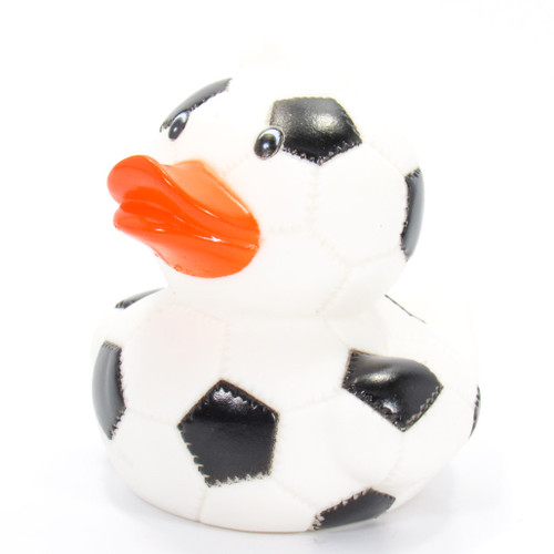 Soccer Ball Rubber Duck by Ad Line | Ducks in the Window®