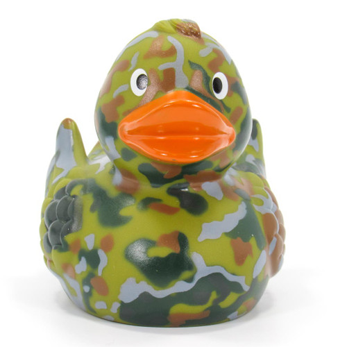 Camouflage Rubber Duck by Schnabels  | Ducks in the Window®