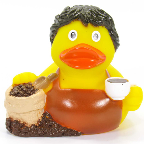 Coffee Barista Rubber Duck by Schnabels  | Ducks in the Window®
