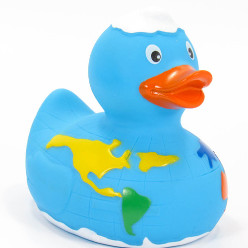 World Globe, Map, Atlas Rubber Duck by Schnabels  | Ducks in the Window®