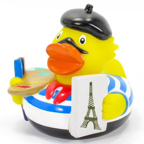 French Painter, Paris, France, Eiffel Tower Rubber Duck by Schnabels  | Ducks in the Window®