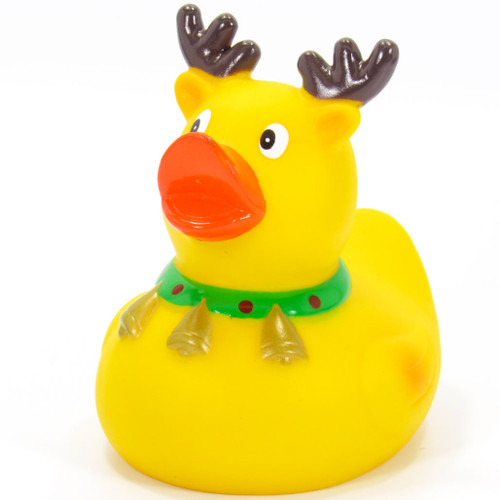 Reindeer Christmas Rubber Duck by Schnabels  | Ducks in the Window®